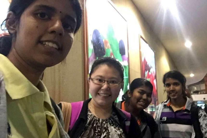 MS PREEYA DARSHINIE (above), Malaysian dentistry student, with classmates (from left) Christine Ting, Yuhasri Ulaganathan and Priithaa Darshinie in KualaLumpur International Airport after fleeing the Chennai floods.