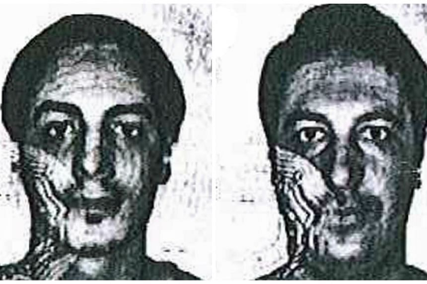 Suspects Kayal (left) and Bouzid in photos from the police.be website.