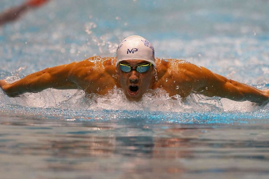 US swimmer Michael Phelps competing during the 200m Butterfly finals at the AT&T Winter National Championships on Dec 5, 2015.