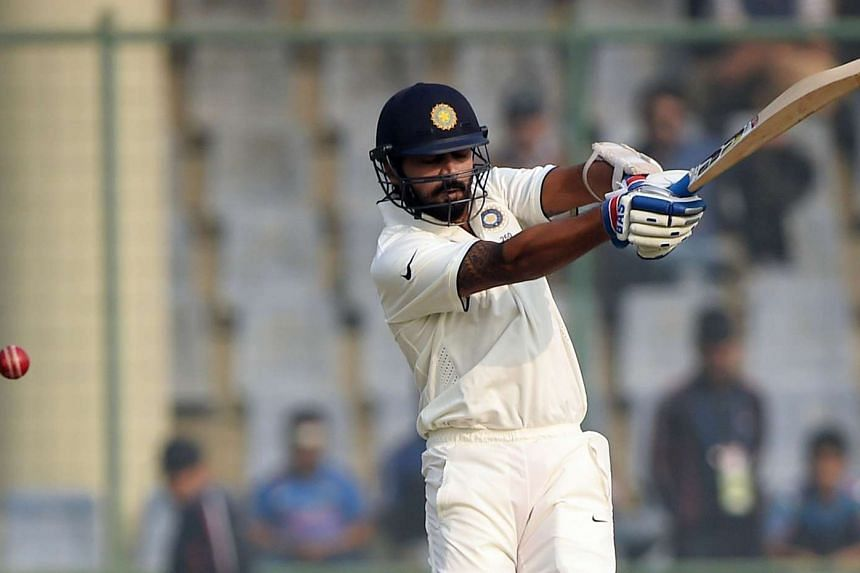 India's Murali Vijay during the third day of the fourth Test cricket match between India and South Africa on Dec 5, 2015.