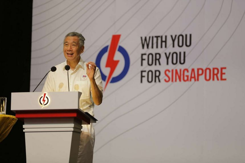 Prime Minister Lee Hsien Loong during the PAP Convention 2015 at the Singapore Expo on Dec 6, 2015.