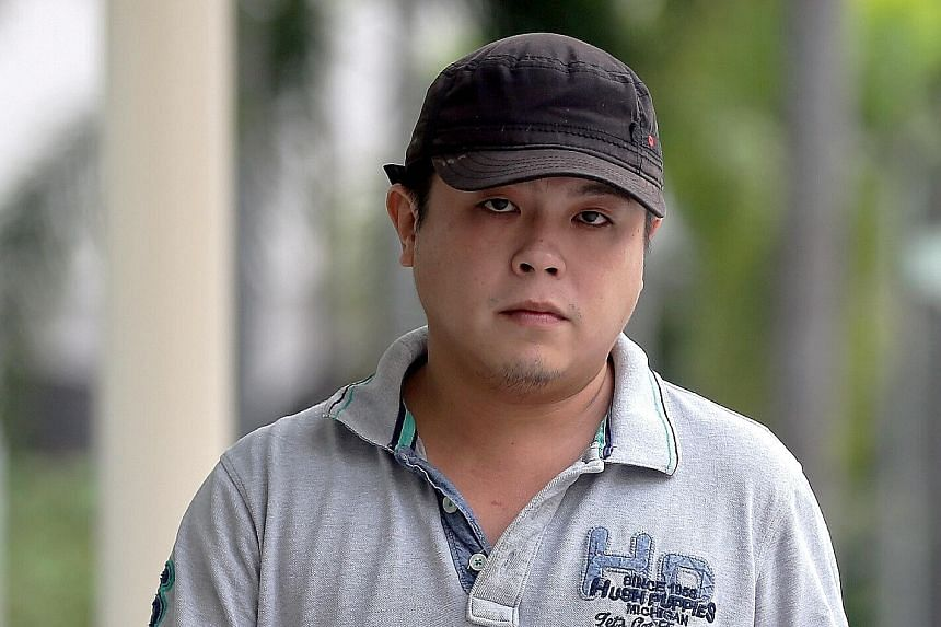 Jover Chew (above) was jailed for 33 months and fined $2,000 last month for coercing customers into paying inflated prices for phones. Among his victims was Mr Pham Van Thoai (left), a Vietnamese tourist, who went on his knees to plead for a refund.