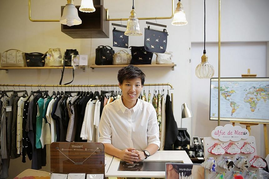 Ms Ngeow Jiawen's online retail business Megafash now has physical stores at I12 Katong and Orchardgateway malls. She set up her first businesses straight after graduating from university.