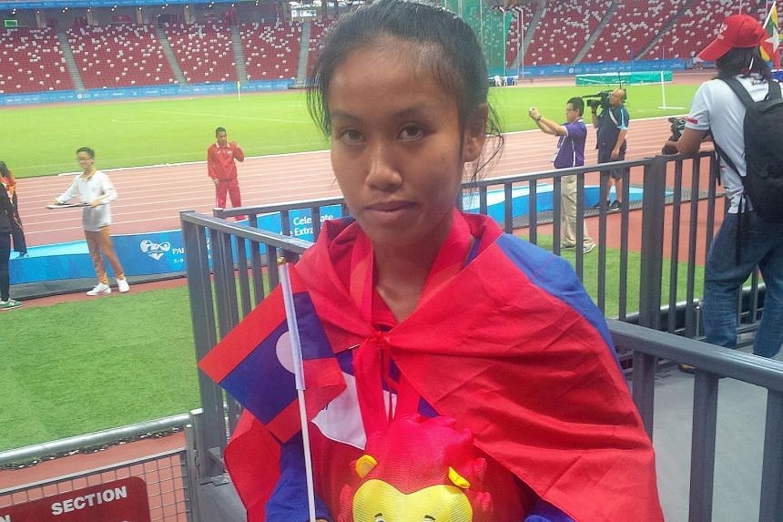 Souliphone Vongdala, who won a bronze in the women's 400m T13 event, will be competing in the 200m T13 event today.