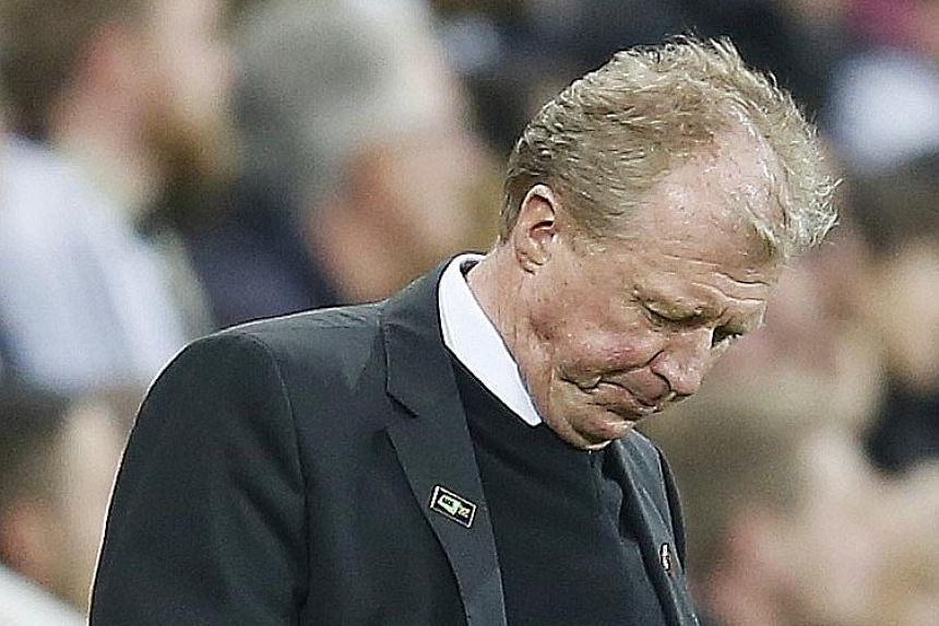 Newcastle manager Steve McClaren is showing the strain of managing a divided coaching staff as his team continue to be mired in the relegation zone.