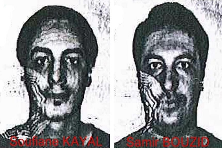 The two armed men are unidentified but carried the ID papers of Belgian nationals Soufiane Kayal and Samir Bouzid.