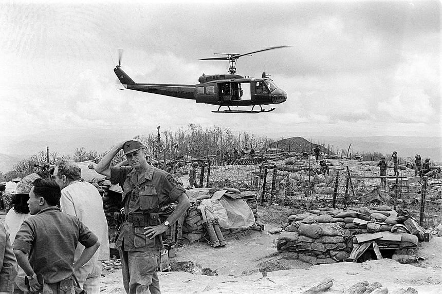 US servicemen at the frontlines of the Vietnam War, one of many conflicts raging when Singapore's foreign policy was taking shape.
