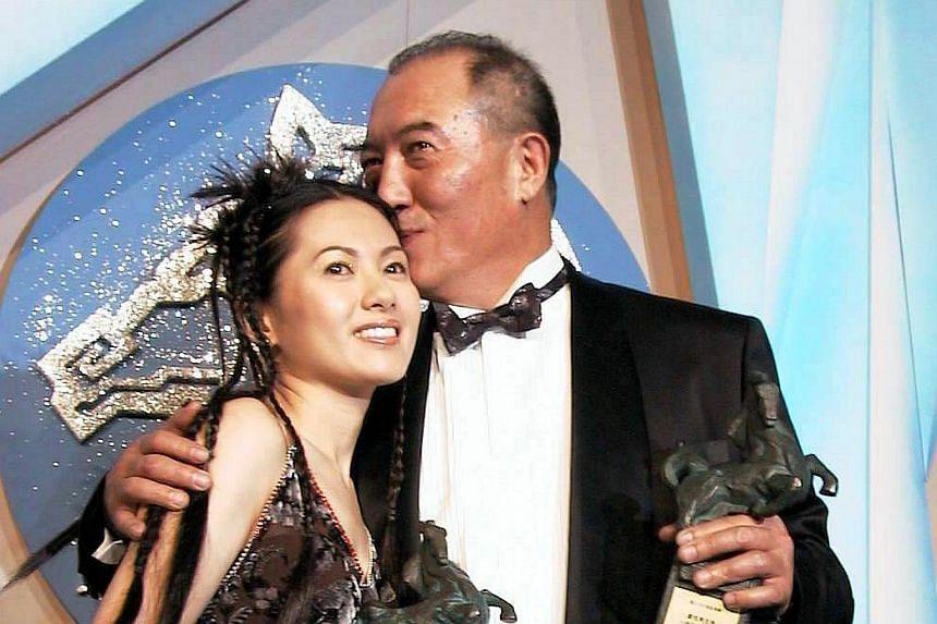 Ko Chun-hsiung with Hong Kong actress Rachel Lee after the duo won best actor and actress at the 1999 Golden Horse Awards.