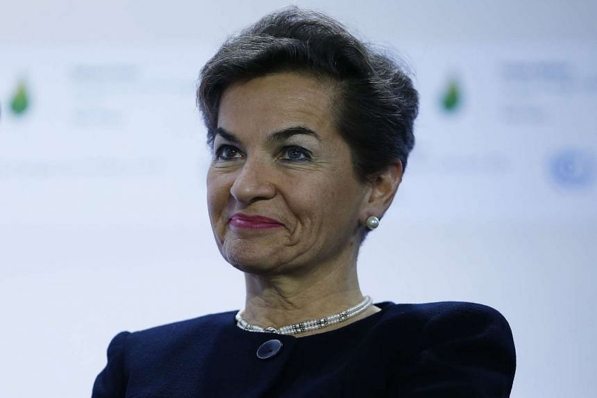 Executive Secretary of the UN Framework Convention on Climate Change Christiana Figueres at a presentation during the COP 21 United Nations conference on climate change, on Nov 30, 2015.