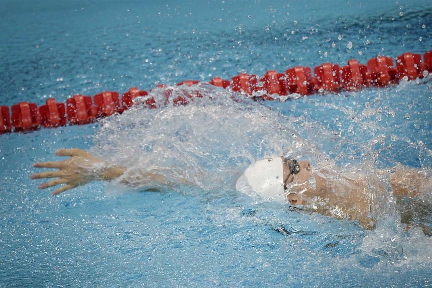 Toh Wei Soong wins the gold medal in the 8th Asean Para Games Men's 100m Backstroke S8 Timed Finals.