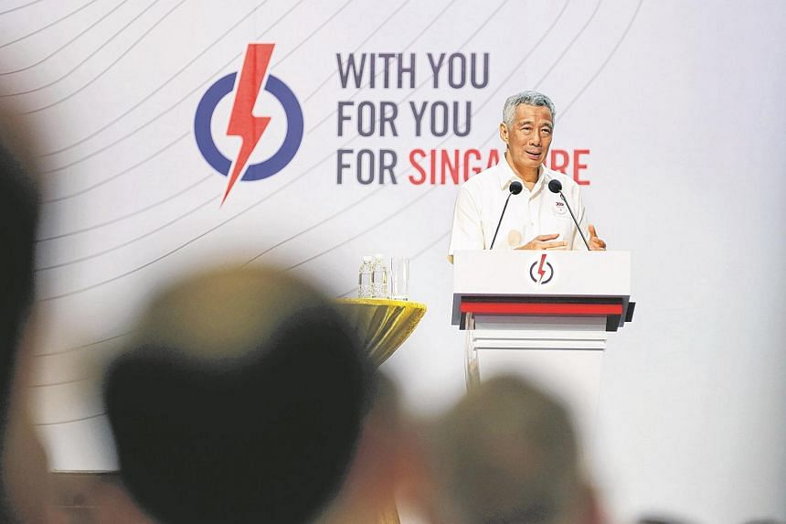 PM Lee Hsien Loong at the PAP Convention 2015 at the Singapore Expo.