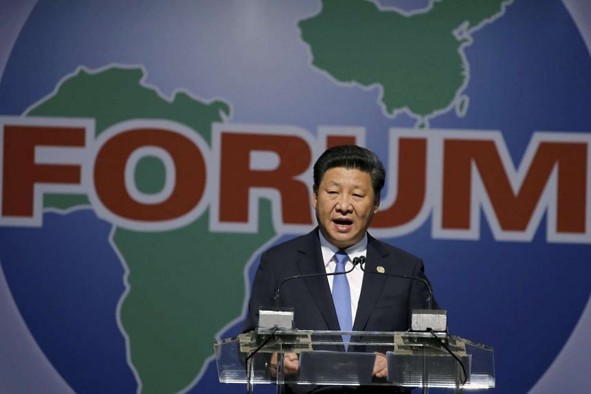 China's President Xi Jinping speaks during a Forum on China-Africa Cooperation on Dec 4, 2015.