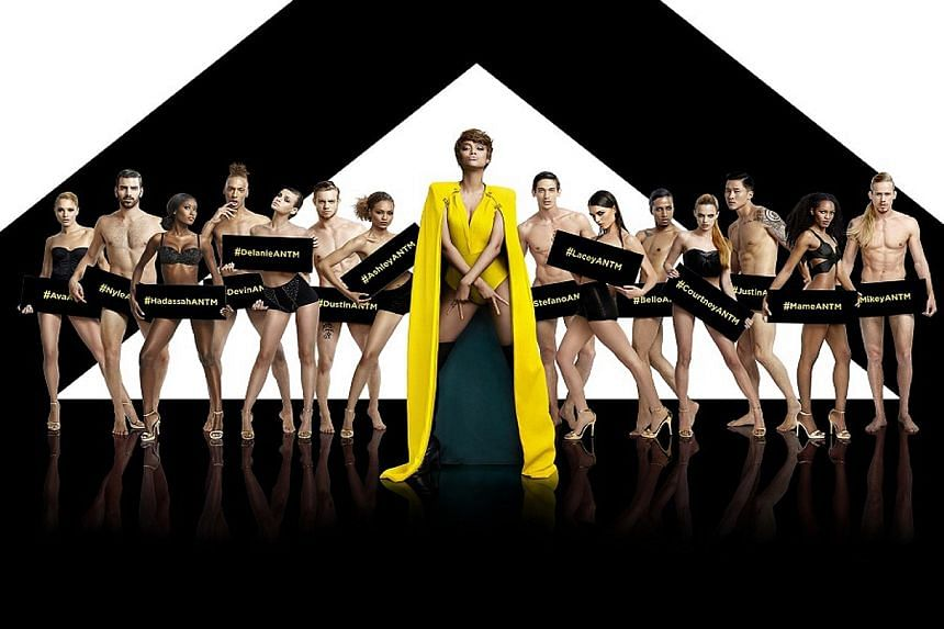 Host Tyra Banks (centre) was the real winner of each season of America's Next Top Model.