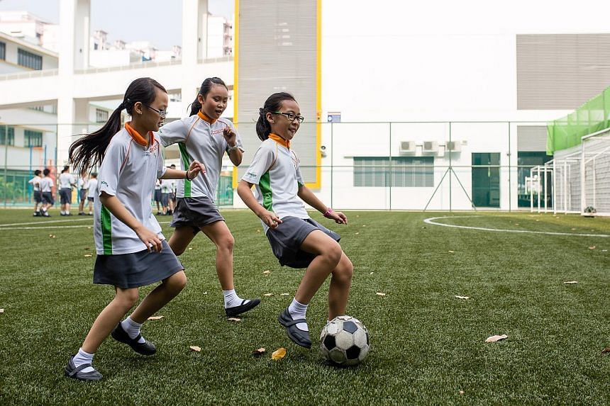 The scheme also incorporates half an hour of outdoor games or sports (above).