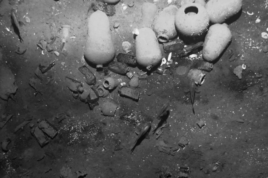Artefacts (above) from the sunken Spanish galleon San Jose as seen in photos released on Saturday by the Colombian Culture Ministry. The ship, sunk in a 1708 naval battle, was identified by experts from engravings found on its cannon.
