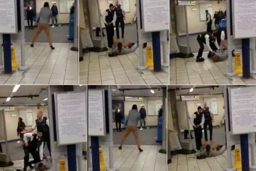 A series of images of the stabbing incident posted on social media.