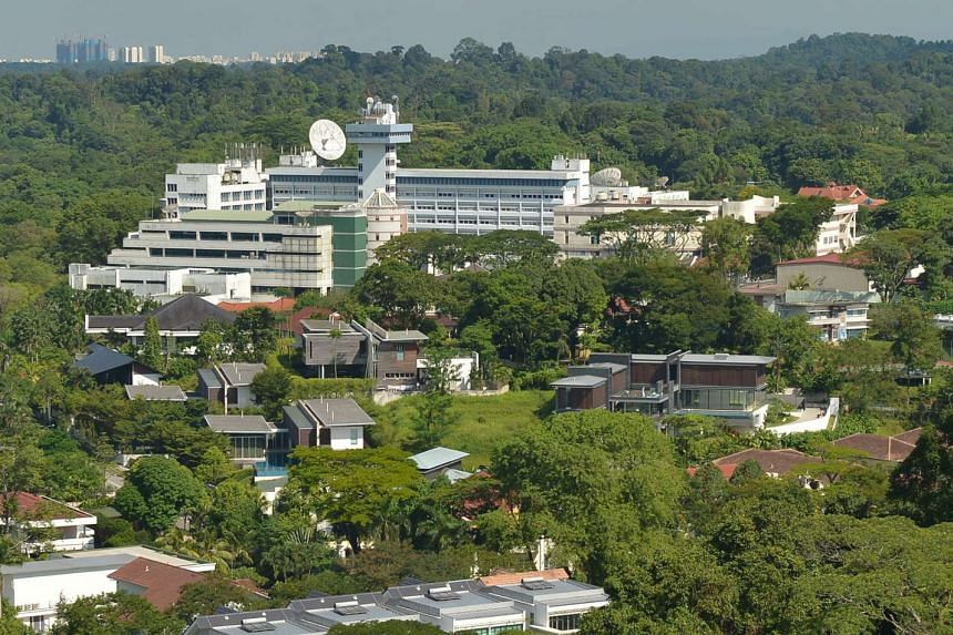 The Mediacorp broadcasting complex at Caldecott Hill.