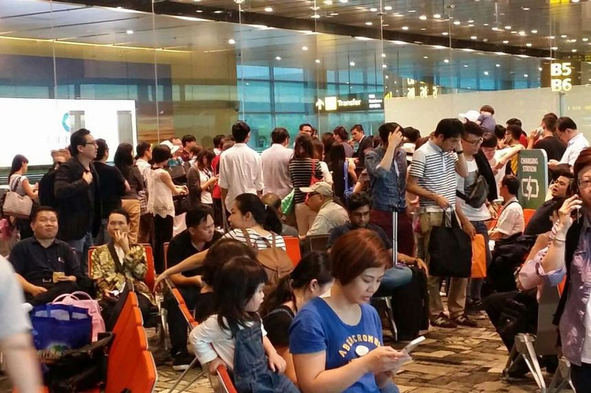 Passengers on Monday's CI754 flight were asked to board, then leave the plane three times.