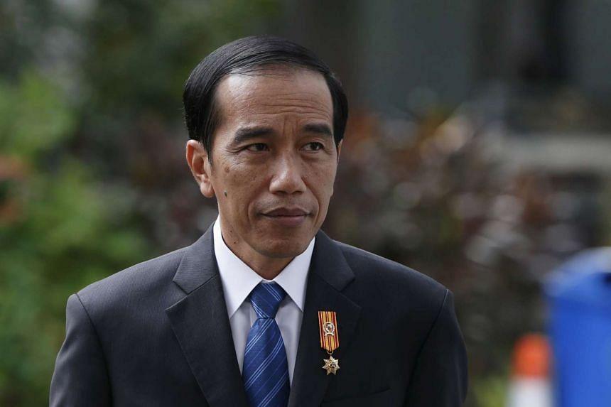 Indonesian President Joko Widodo at the presidential palace in Jakarta.