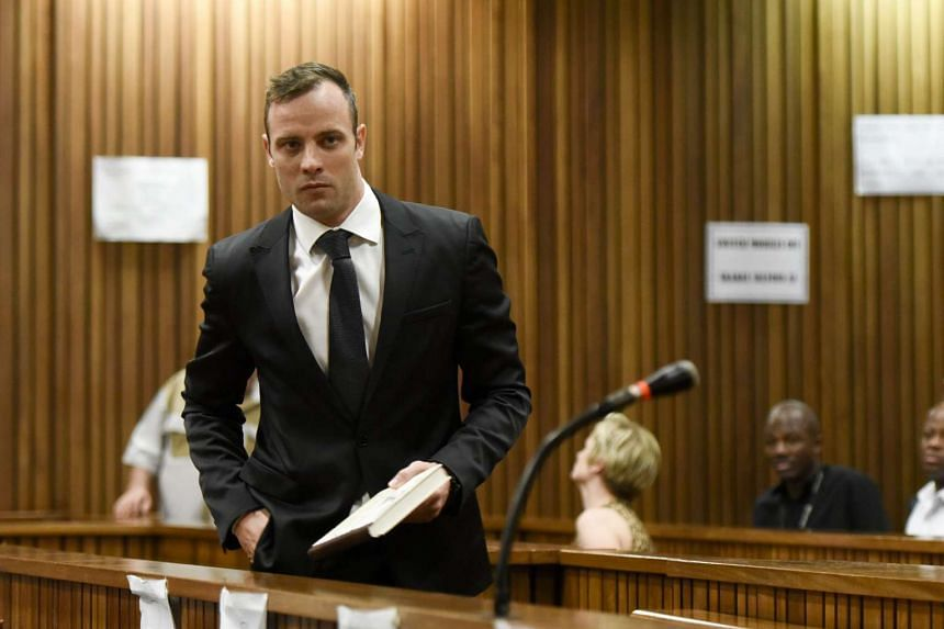 Former South African track star Oscar Pistorius arrives at the Gauteng Division of the High Court, Pretoria, South Africa, on Dec 8, 2015. PHOTO: