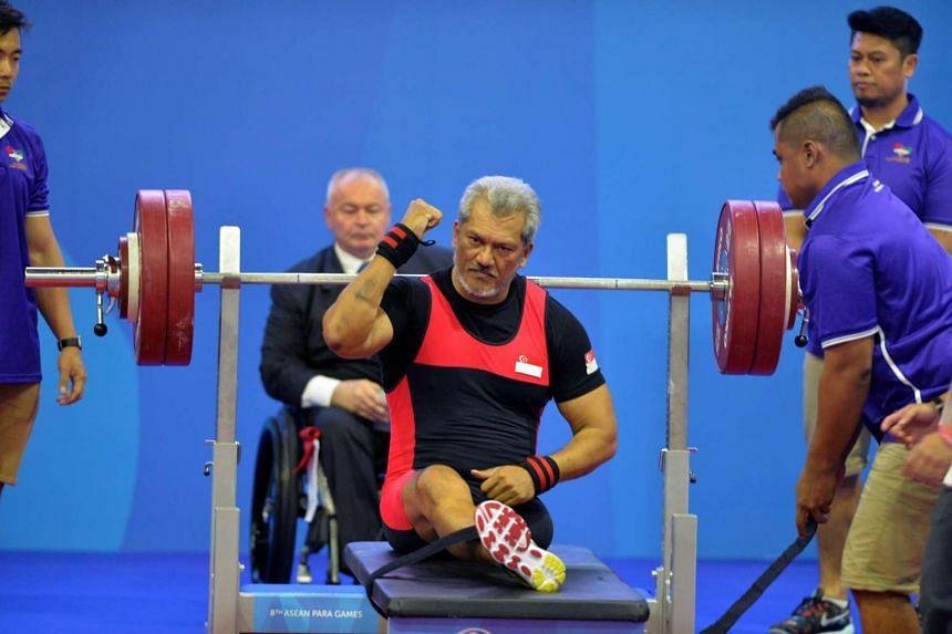 Kalai Vanen after his first attempt at lifting 140kg.