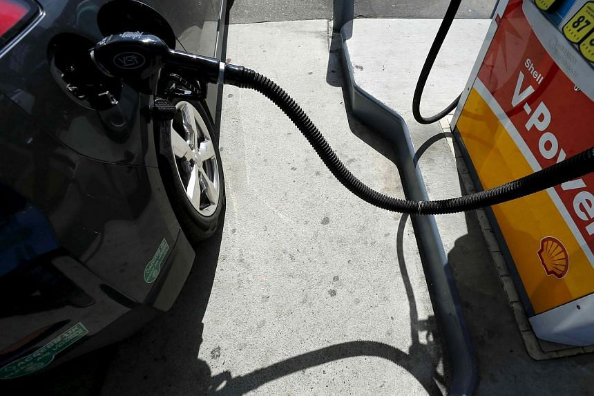 A car being filled with gasoline in Carlsbad, California on Aug 4, 2015.