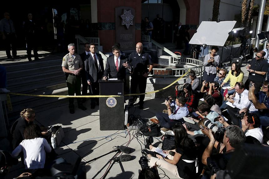 FBI's David Bowdich at a news conference on the shooting in San Bernardino, California.