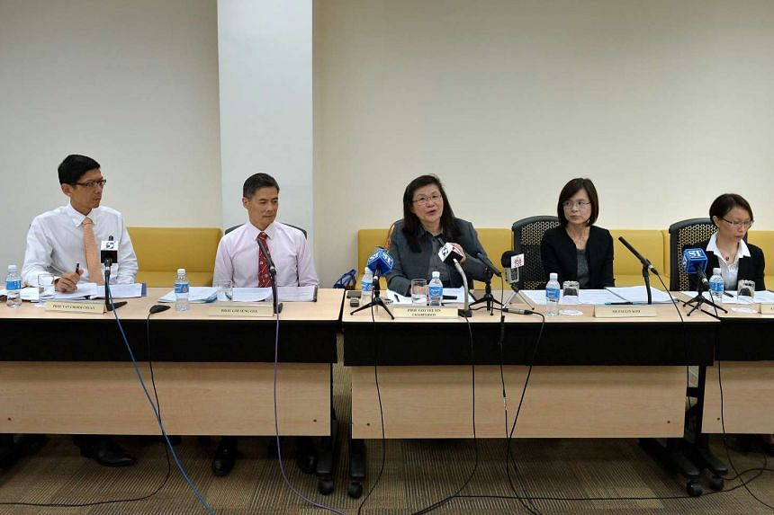 (From left) Professor Tan Chorh Chuan, Professor Lim Seng Gee, Professor Leo Yee Sin, Ms Paulin Koh and Associate Professor Angela Chow at the briefing on Dec 8.