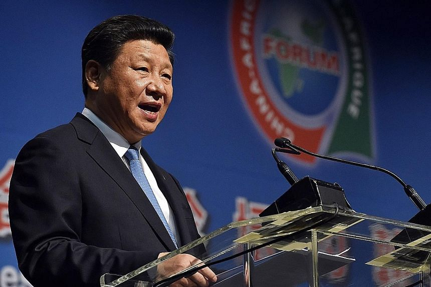President Xi Jinping at the African summit last Friday. China News Service staff switched two characters with similar sounds in an article about the President's speech to wrongly suggest that he was resigning.