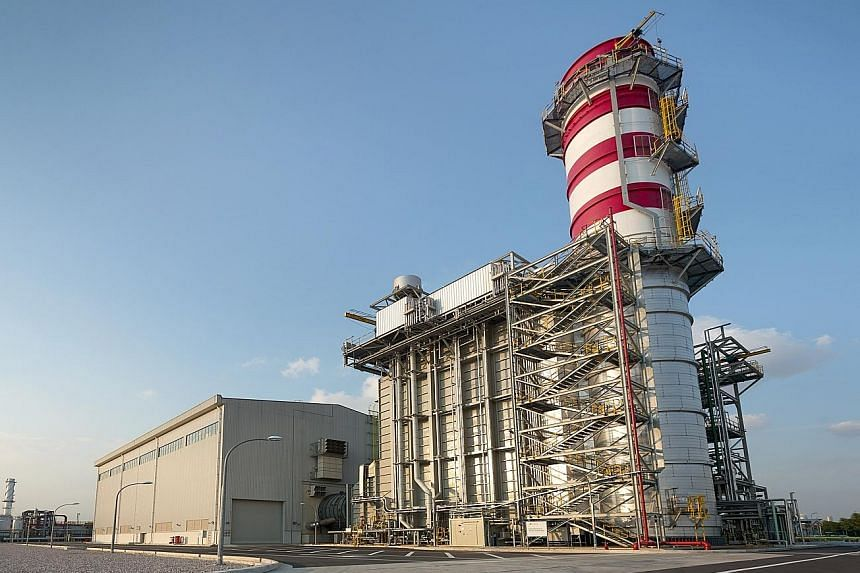 The Myanmar plant - similar to this one (above) in Singapore - will deliver 225 megawatts of capacity, enough to power more than 400,000 four-room flats for a year.