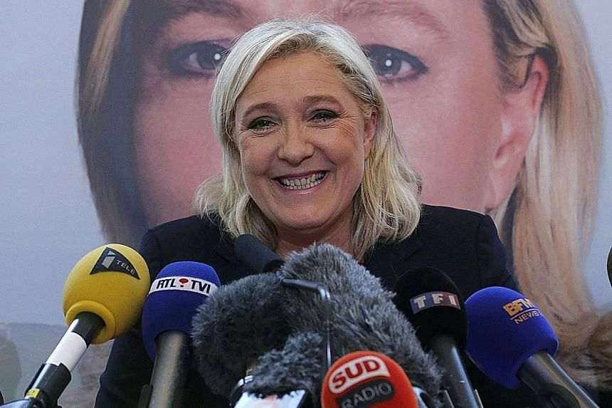 """Ms Marion Marechal-Le Pen (left) raised a storm in Toulon when she said Muslims could only be French """"if they follow customs and a lifestyle that has been shaped by Greek and Roman influence and 16 centuries of Christianity"""". National Front leader Ma"""