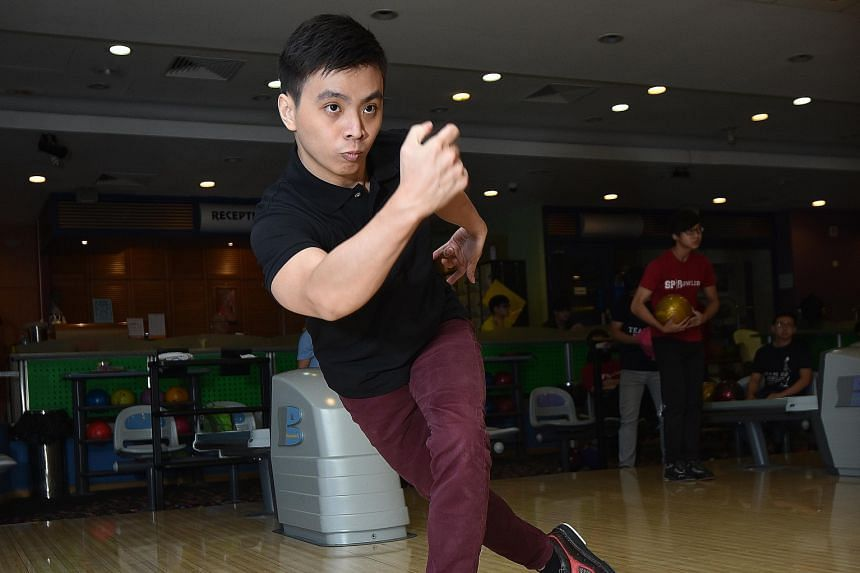 Other than bowling, Mr Tay Ngiap Siang usually swims every weekend to keep himself fit. The time in the pool also helps him to strengthen the shoulder muscles that are vital in bowling.