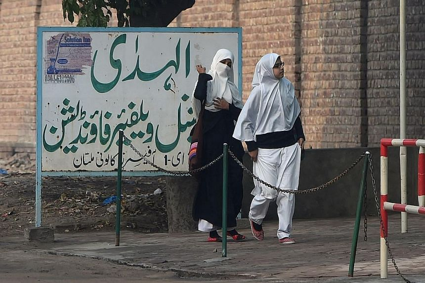 The Al-Huda Institute (above), one of the most well-known female madrasahs in Pakistan, has no known extremist links but came under fire from critics who said its ideology echoes that of the Taleban.