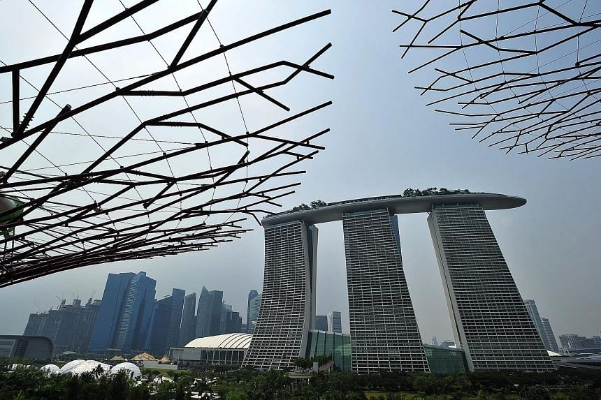 The Marina Bay Sands casino has the lion's share of the market here because of its central location and strong branding, reported Fitch Ratings.
