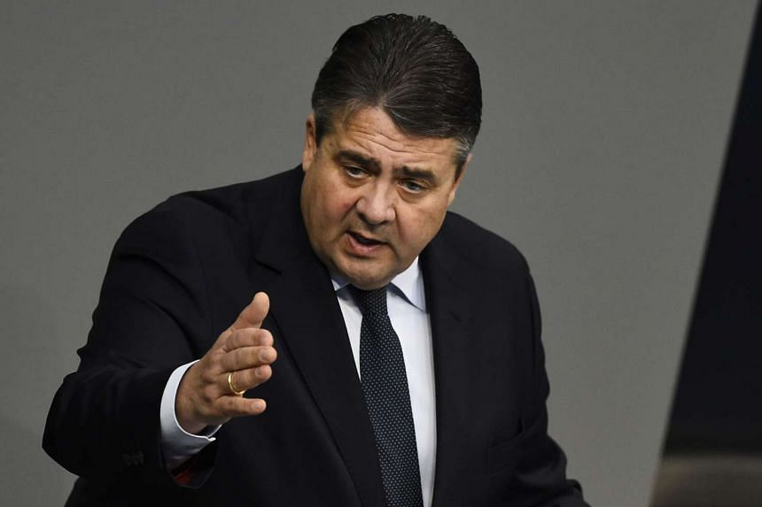 German Vice-Chancellor Sigmar Gabriel delivering a speech during a session of the German Bundestag (lower house of parliament) on Nov 26, 2015.