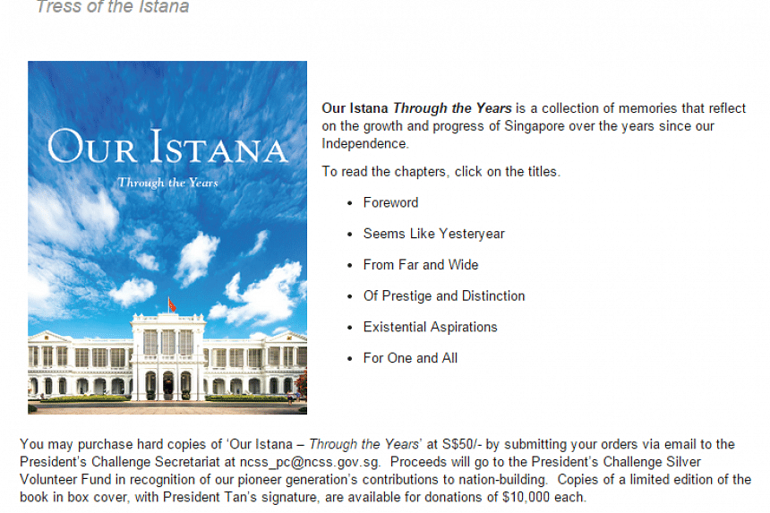 The online version of the book on the Istana website.