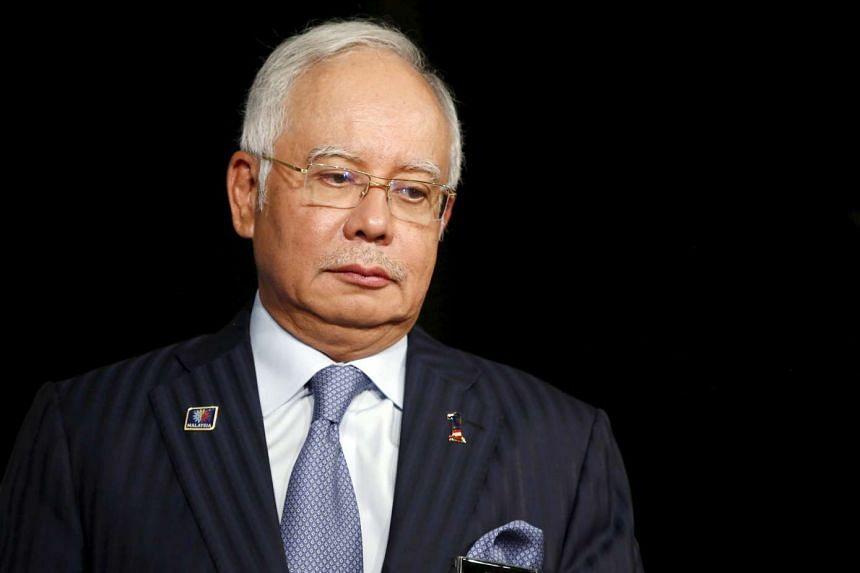 Malaysia's Prime Minister Najib Razak attends the Khazanah Megatrends Forum in Kuala Lumpur, Malaysia.