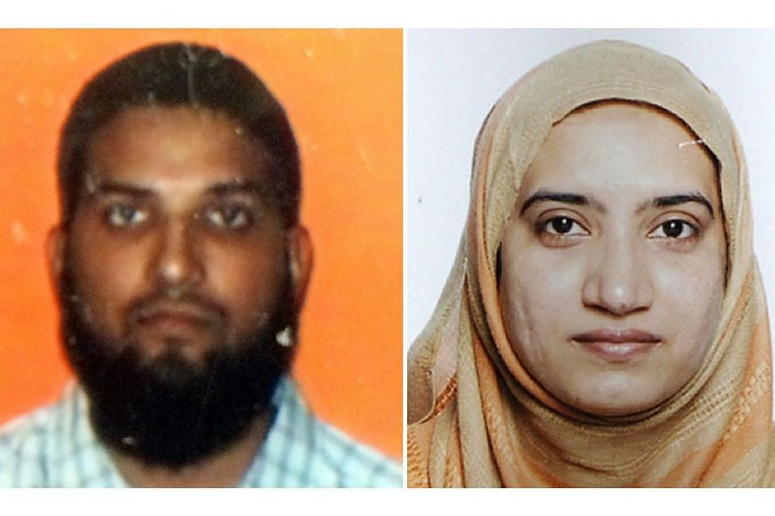 California shooting suspects Syed Farook and Tashfeen Malik.