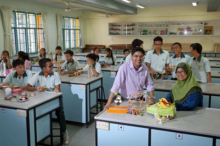 Greenview Secondary school teacher Muhammad Nazir Amir (front row, second from right).