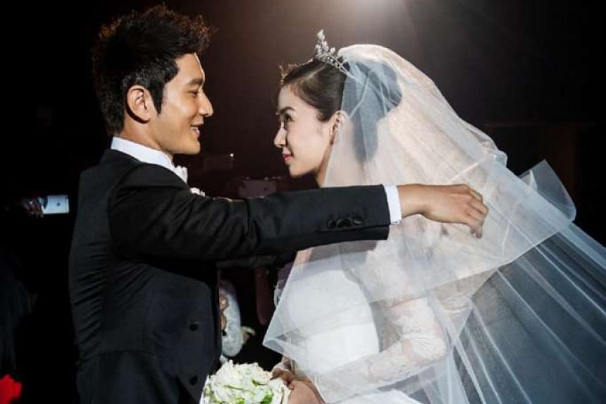 Huang Xiaoming said he let his wife Angelababy undergo public tests for the sake of their future children.