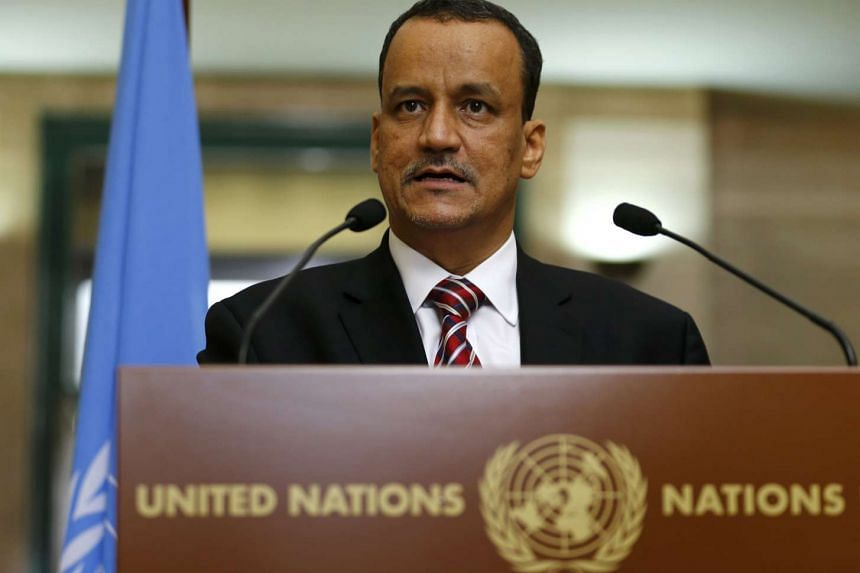 The United Nations special envoy for Yemen, Ismail Ould Cheikh Ahmed makes a statement at the United Nations European headquarters in Geneva, Switzerland on Dec 7, 2015.