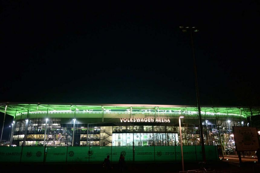 General view of the Arena in Wolfsburg ahead of the UEFA Champions League Group B match between VfL Wolfsburg vs Manchester United in Wolfsburg, Germany, on Dec 8, 2015.