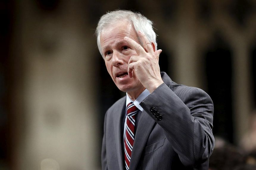 Canada's Foreign Minister Stephane Dion speaking in the House of Commons in Ottawa.