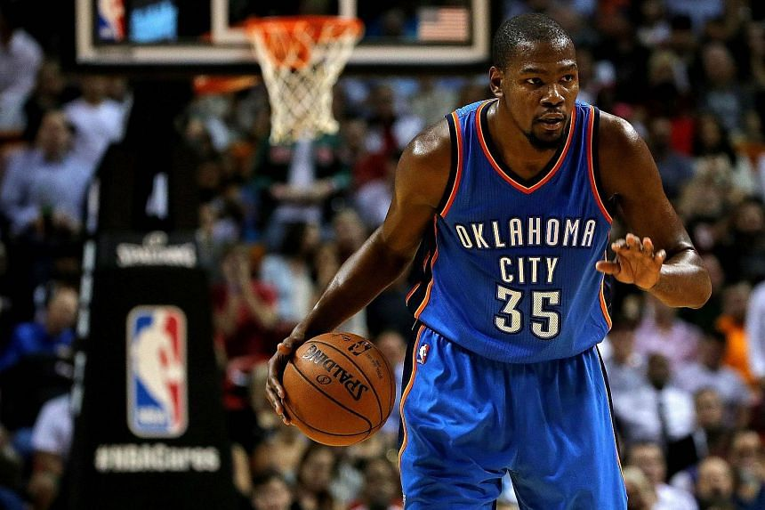 Kevin Durant (35) looks on during a game against the Miami Heat at American Airlines Arena on Dec 3, 2015 in Miami, Florida.