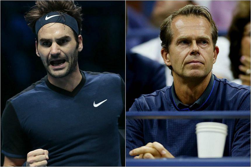 Stefan Edberg (right) will be leaving Roger Federer's coaching team in 2016. Croatian Ivan Ljubicic will be replacing him.