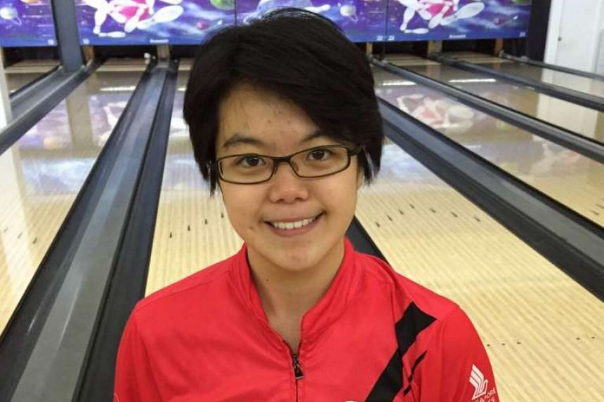 Singapore bowler Cherie Tan at the Euro-Med Storm International Masters Challenge in Sept, 2015.