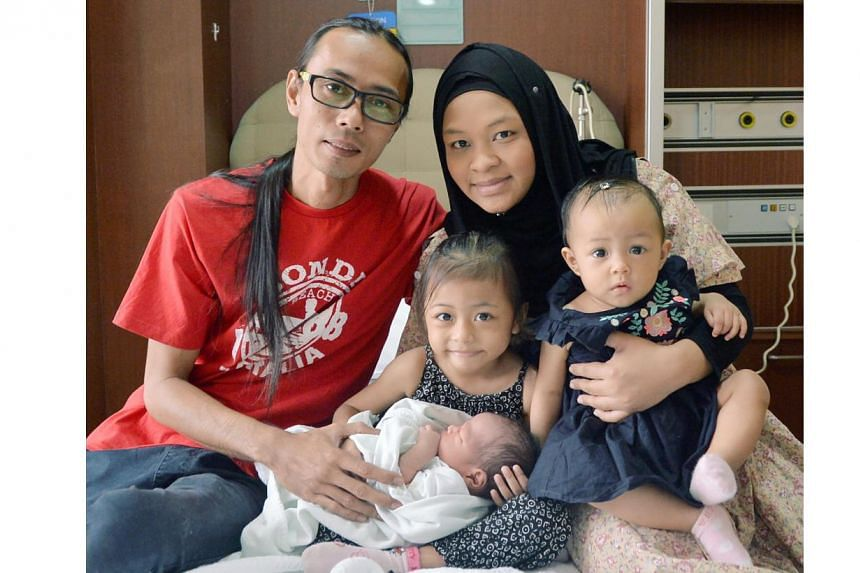 Madam Lydiawati Ibrahim delivered Mohammad Rifly Asyraaf at 6.23pm on Monday.