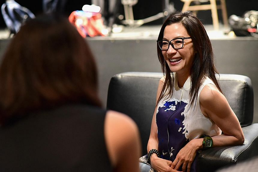 Actress Michelle Yeoh (above) was in Singapore to receive the Singapore International Film Festival's first Cinema Legend Award.
