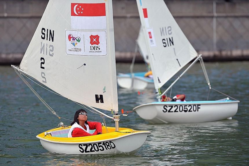 Yap Qian Yin clinched nine of the 10 Hansa 2.3 races for a huge nine-point winning margin. Jovin Tan and Anthony Teo, 71, won the Hansa 303.