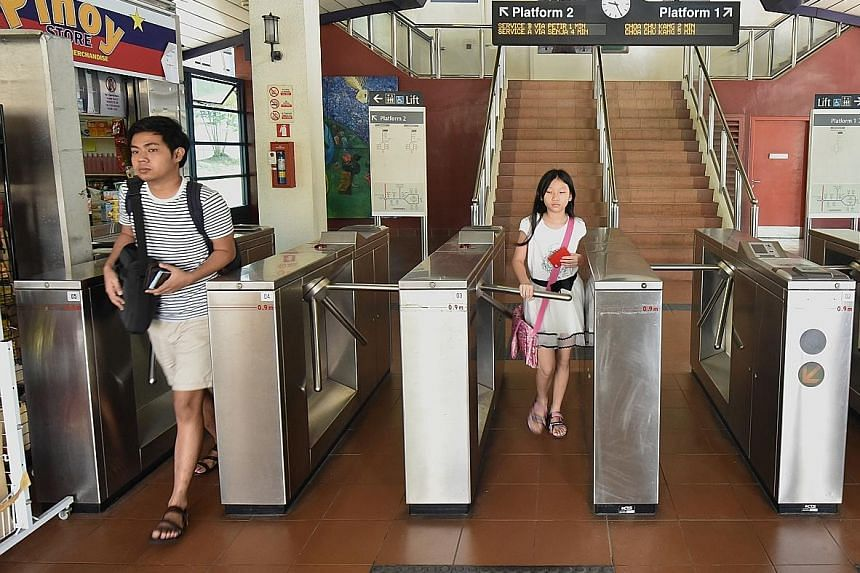 Turnstile fare gates - used only on the Bukit Panjang LRT line - will make way for automatic retractable ones.
